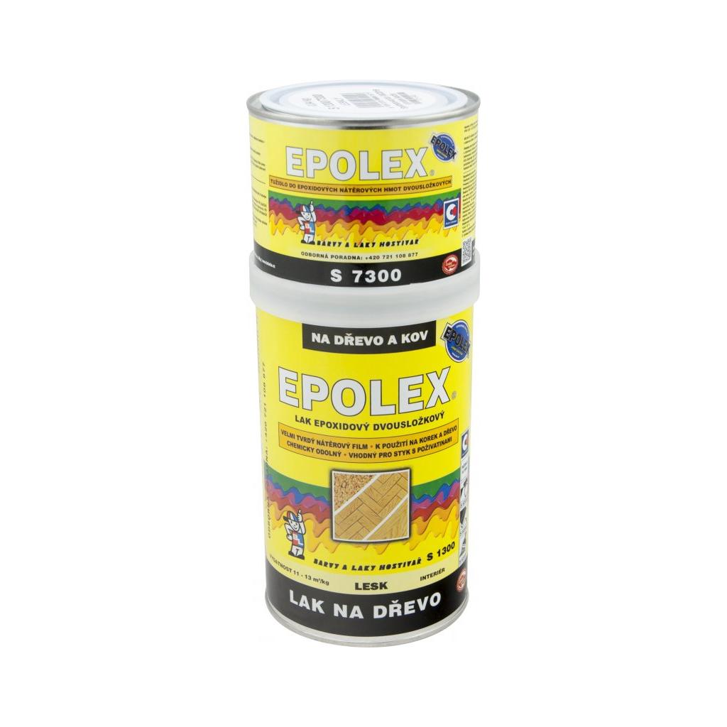 Epolex s1300 lesk dvousložkový lak na dřevo + tužidlo, 840 g