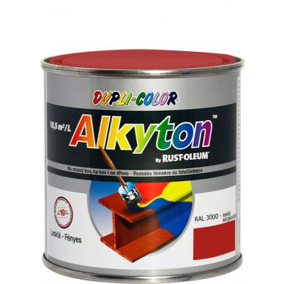 Dupli-Color Alkyton Lesk, samozákladová barva na rez, Ral 3000 ohnivě červená, 250 ml