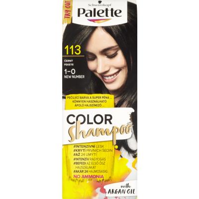Schwarzkopf Palette Color Shampoo barva na vlasy 113 černá, 50 ml