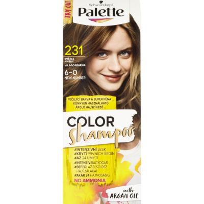 Schwarzkopf Palette Color Shampoo barva na vlasy 231 světle hnědá, 50 ml