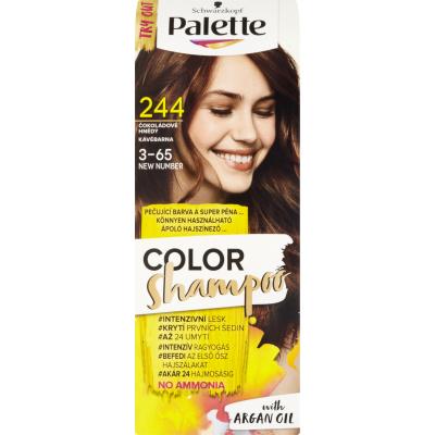 Schwarzkopf Palette Color Shampoo barva na vlasy 244 čokoládově hnědá, 50 ml