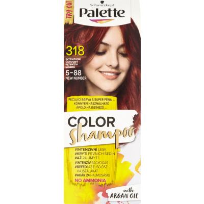 Schwarzkopf Palette Color Shampoo barva na vlasy 318 intenzivně červená, 50 ml