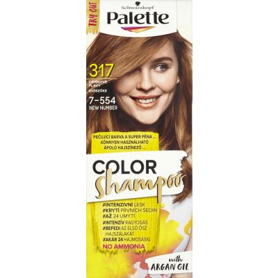 Schwarzkopf Palette Color Shampoo barva na vlasy 317 oříškově plavá, 50 ml