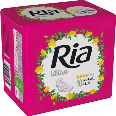 Ria Ultra Silk Normal Plus dámské vložky, 10 ks