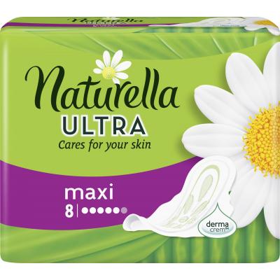 Naturella Camomile Ultra maxi hygienické vložky s jemnou vůní, 8 ks