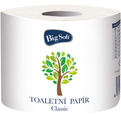 Big Soft Clasic 1000 2vrstvý toaletní papír, role 1000 útržků, 1 role