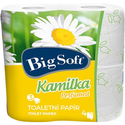 Big Soft Kamilka 3vrstvý toaletní papír, role 160 útržků, 4 role