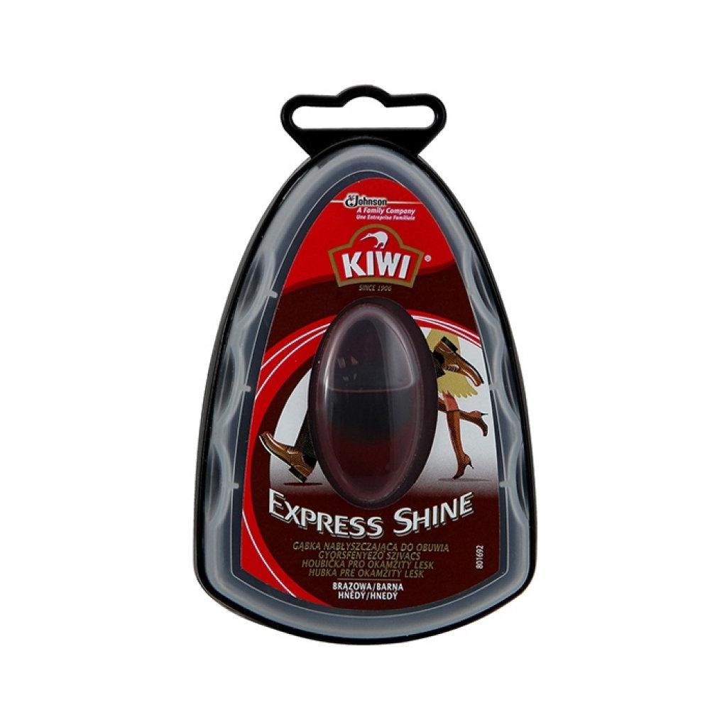 Kiwi Express Shine houbička pro okamžitý lesk hnědý 7ml