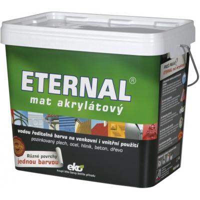 Eternal mat akrylátový univerzální barva na dřevo kov beton, 03 šedá středně, 10 kg