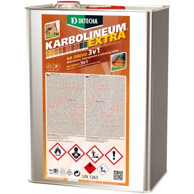 Detecha Karbolineum Extra 3v1 barva na dřevo, jantar, 8 kg
