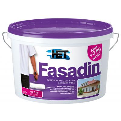 Het Fasadin fasádní barva s jemným zrnem, bílá, 15 + 3 kg