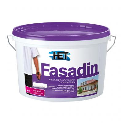 Het Fasadin fasádní barva s jemným zrnem, bílá, 7 kg