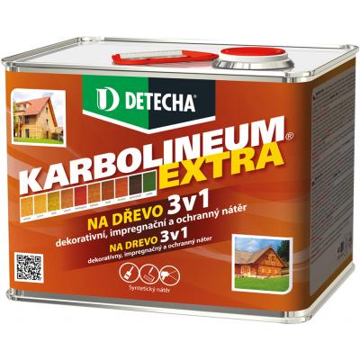 Detecha Karbolineum Extra 3v1 barva na dřevo, ořech, 3,5 kg