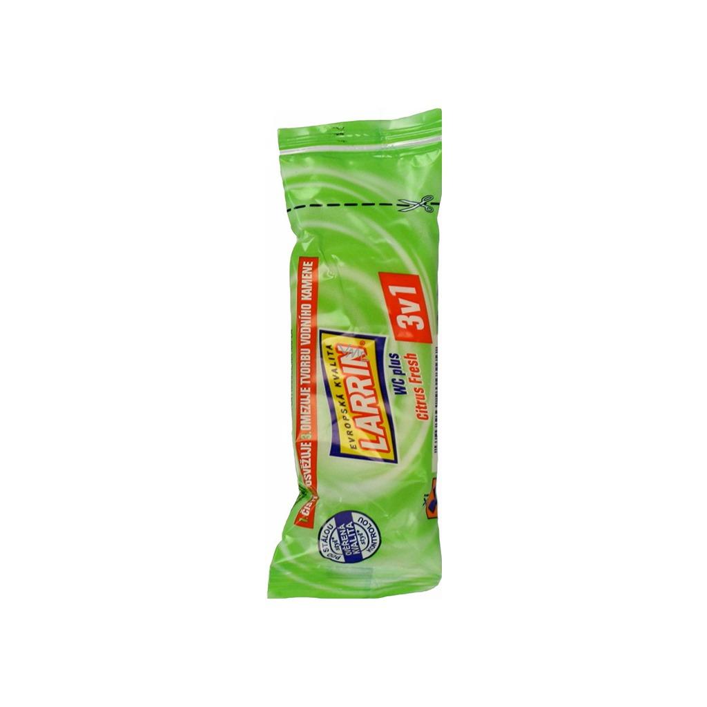 Larrin plus 3v1 Citrus Fresh WC blok, náhradní náplň, vůně citónu, 40 g