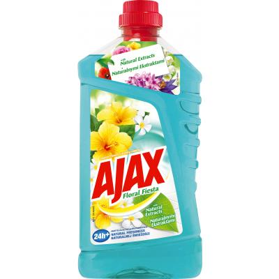 Ajax Floral Fiesta Lagoon Flowers, univerzální pro veškeré plochy v domácnosti, vůně květin, 1 l