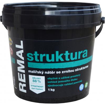 REMAL Struktura malířská barva se zrnitou strukturou, 1 kg
