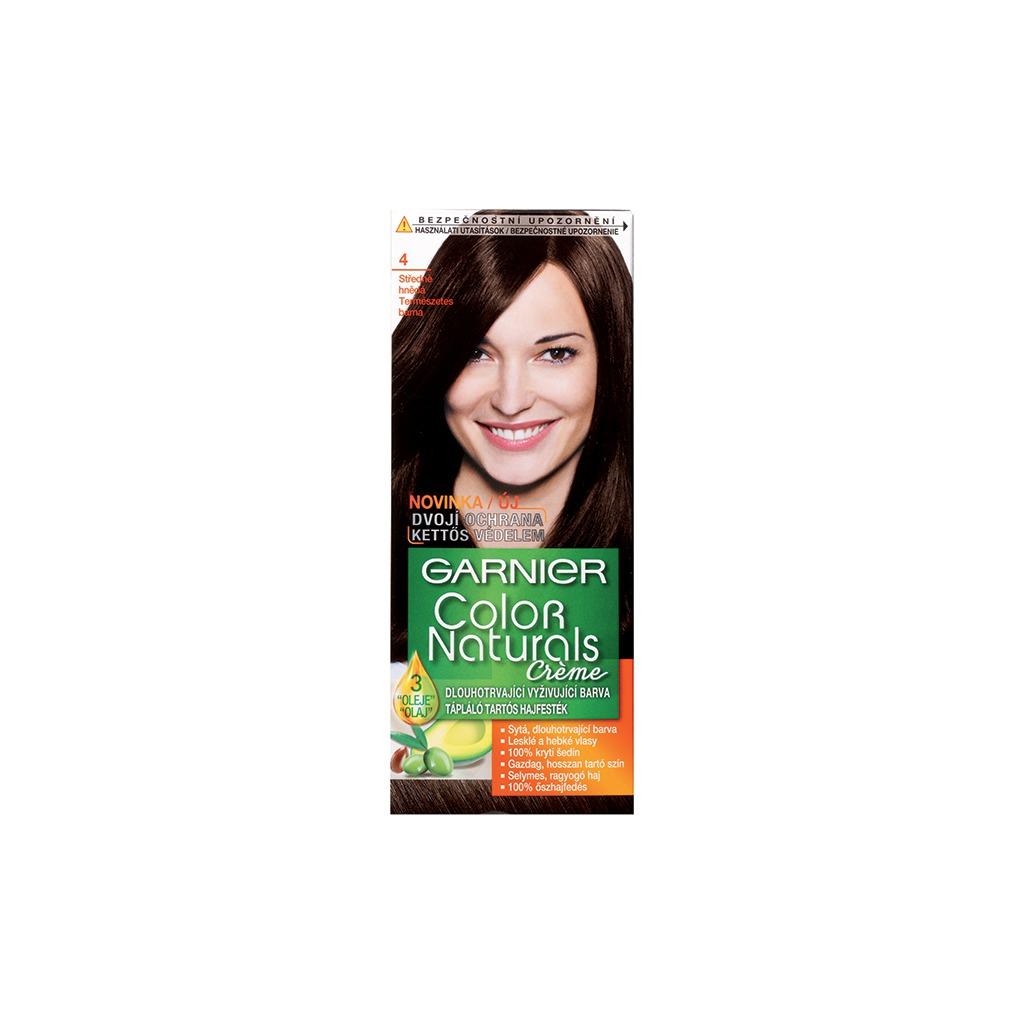 Garnier Dlouhotrvající vyživující barva na vlasy (Color Naturals Creme) (Odstín 4 Středně hnědá)