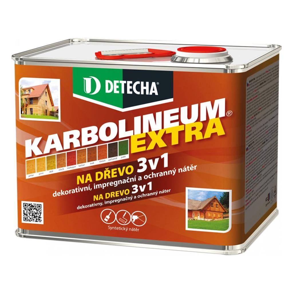 Detecha Karbolineum Extra 3v1 barva na dřevo, kaštan, 3,5 kg
