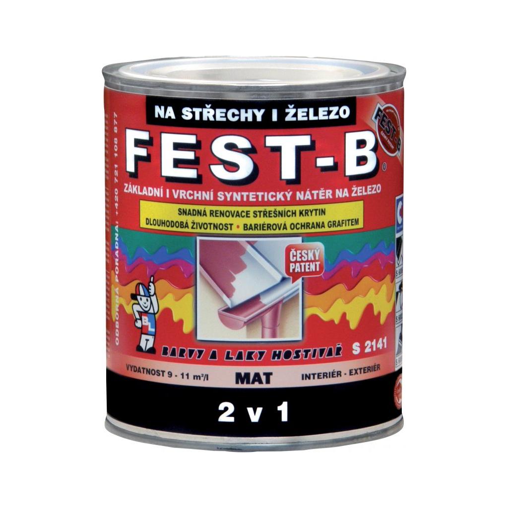 FEST-B S2141, antikorozní nátěr na železo, 0111 šedý, 800 g