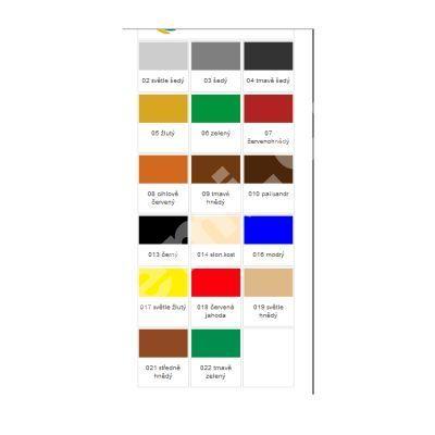 Eternal mat akrylátový univerzální barva na dřevo kov beton, 01 bílá, 5 kg