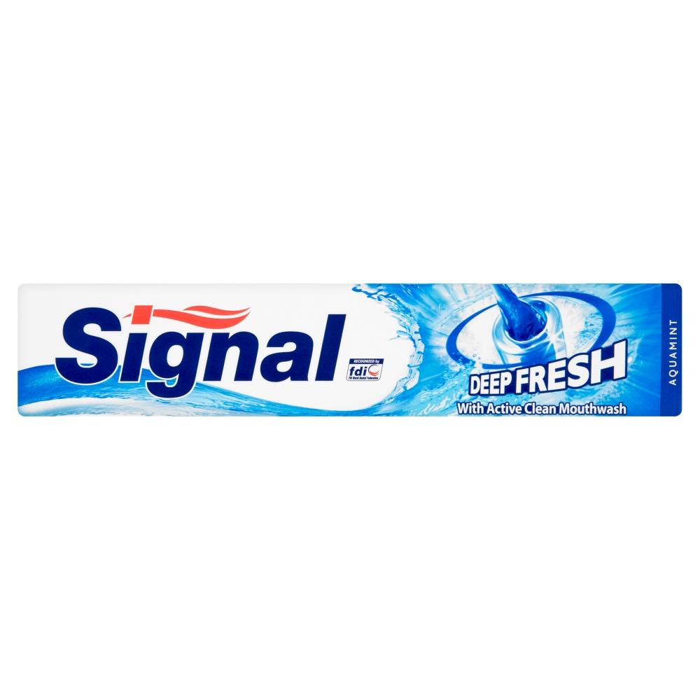 Signal zubní pasta Deep fresh s ústní vodou active clean 75ml