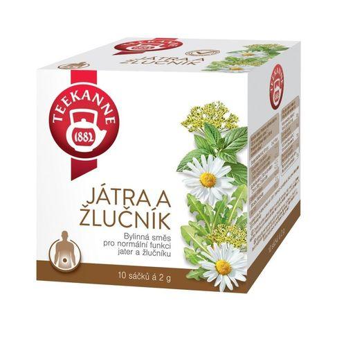 Teekanne Játra a žlučník bylinný čaj porcovaný 10x2 g