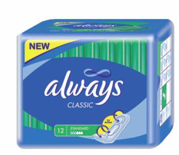 Always Classic standard dámské hygienické vložky 10ks