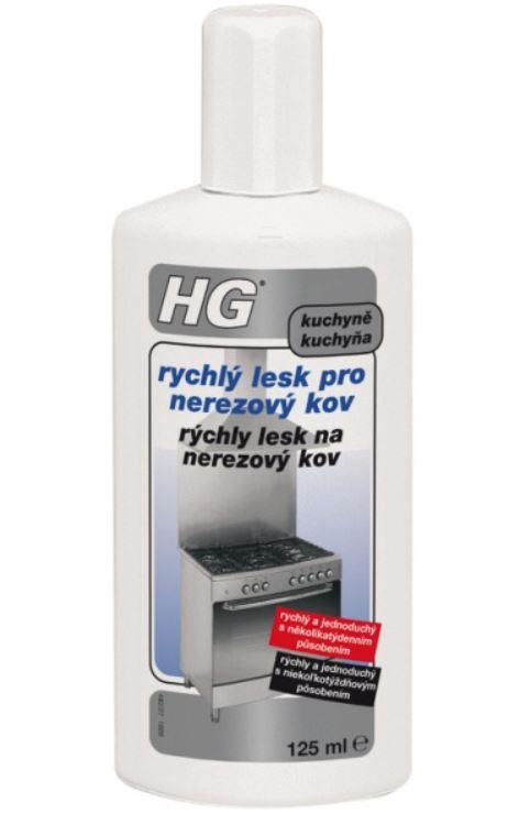 HG rychlý lesk pro nerezový kov 125 ml