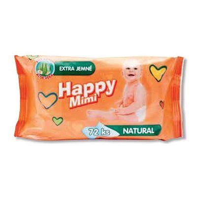 Happy mimi dětské vlhčené ubrousky 72ks extra jemné