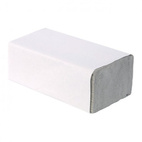 Skládaný ručník Z-Z šedý 25x23 papírový ručník