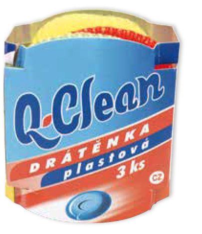 Q Clean drátěnka plastová 3ks