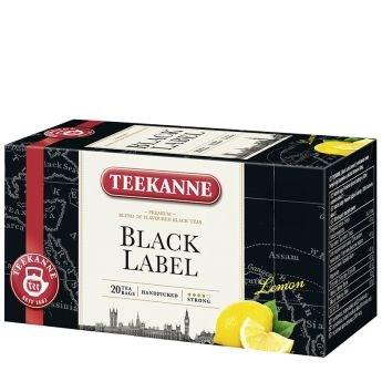 Teekanne černý čaj s citronem- Black Label Lemon 20 sáčků