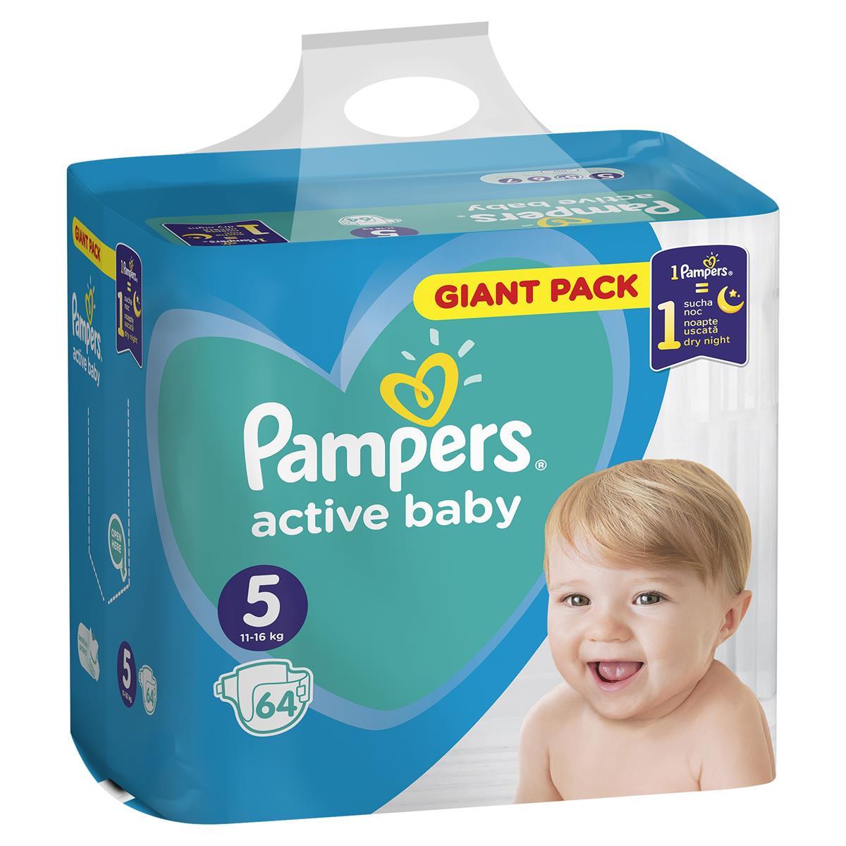 Pampers active baby  Junior 64ks plenkové kalhotky 11-16kg