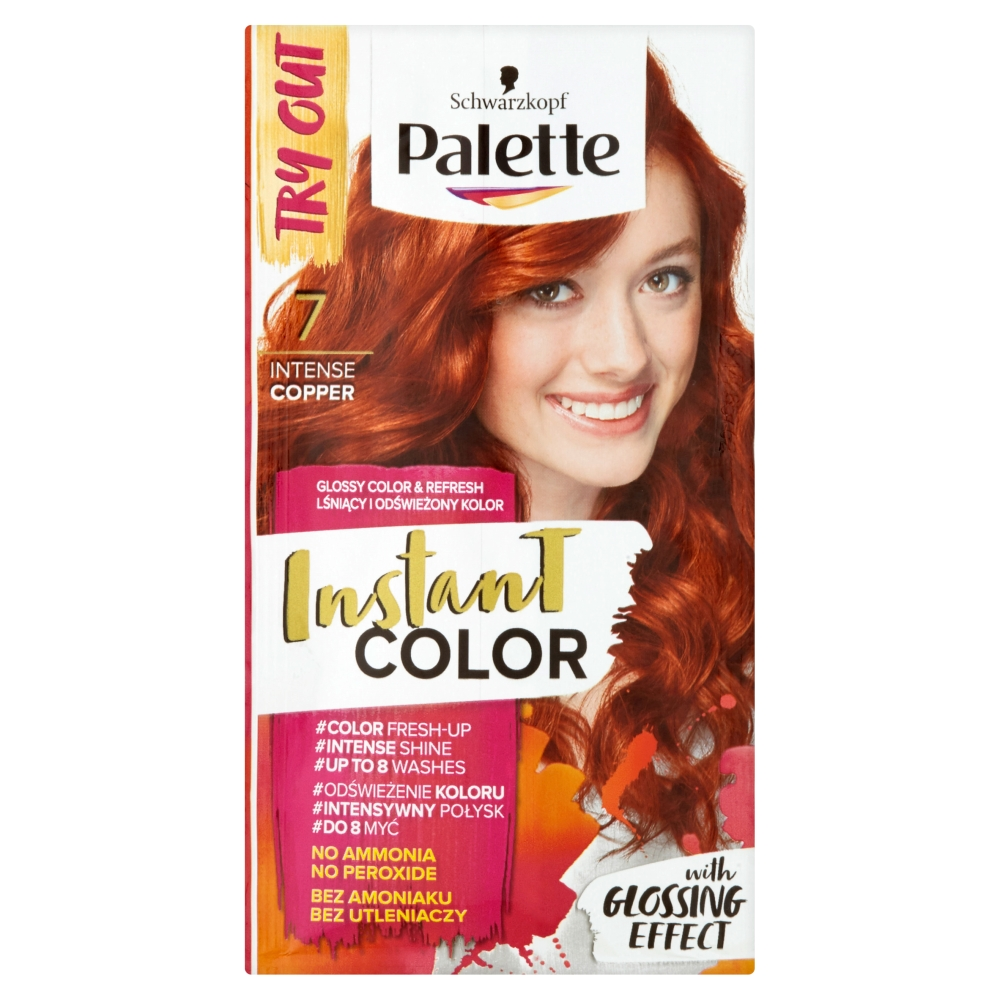Palette Instant Color barva na vlasy 7 Intenzivní Měděný  25ml