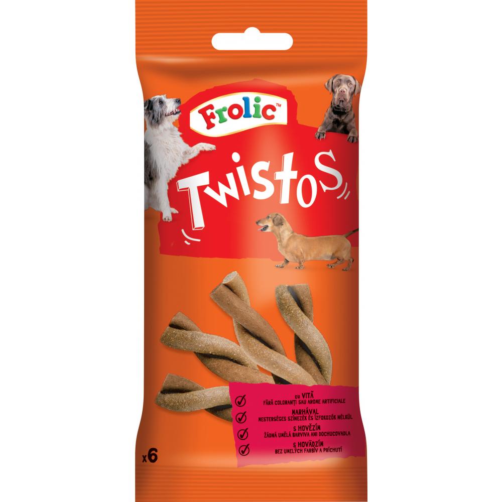 Frolic Twistos pochoutka s hovězím, 6 ks, 105 g