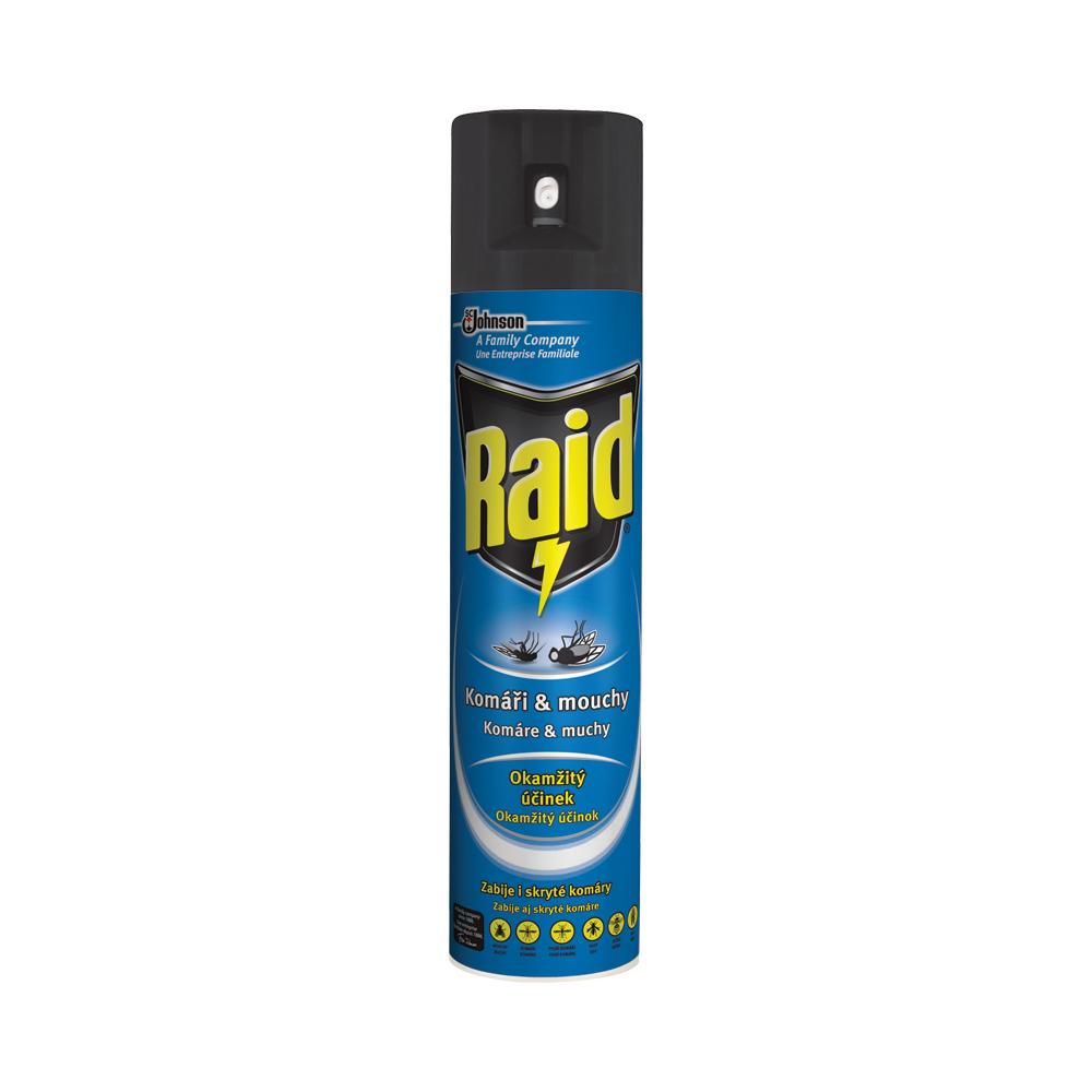 Raid sprej proti létajícímu hmyzu, proti komárům a mouchám, 400 ml