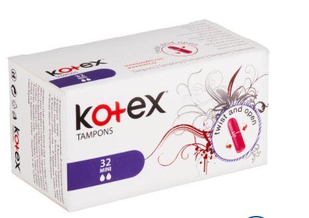 Kotex tampony mini 32