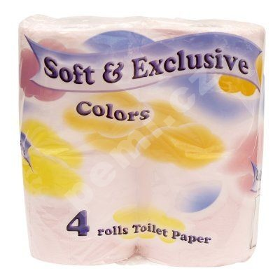 Toaletní papír Soft exclusive růžový 4ks 2vrstvý