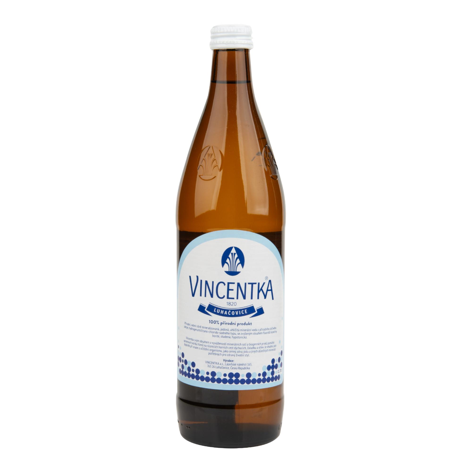 Vincentka léčivá minerální voda 700 ml   VINCENTKA